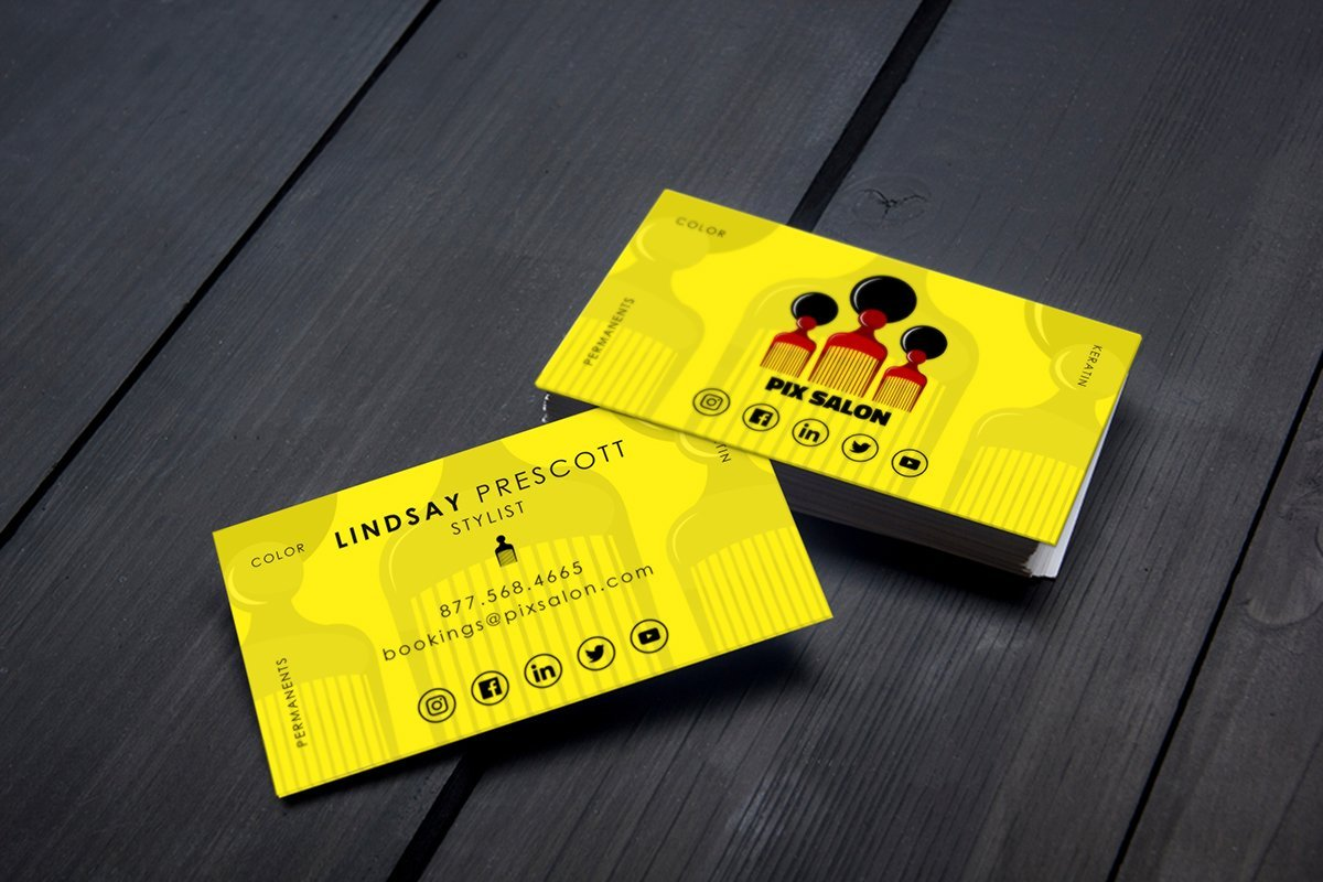 custom salon business card design